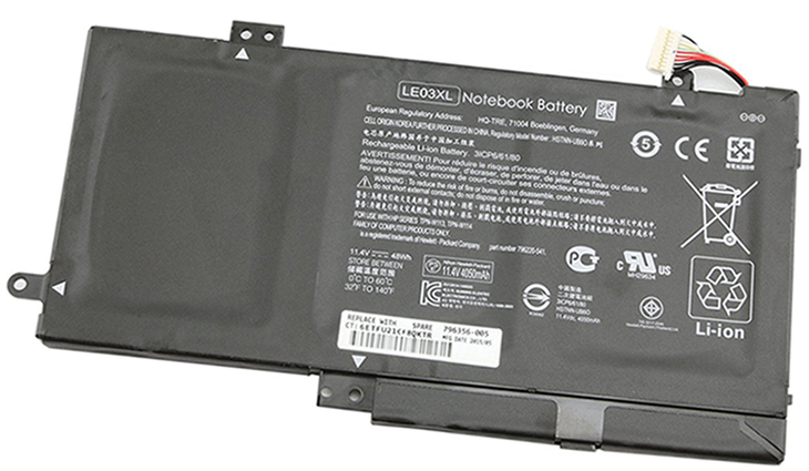 Battery for HP LE03XL laptop
