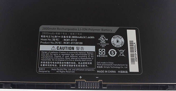 Battery for Razer RC81-0112 laptop